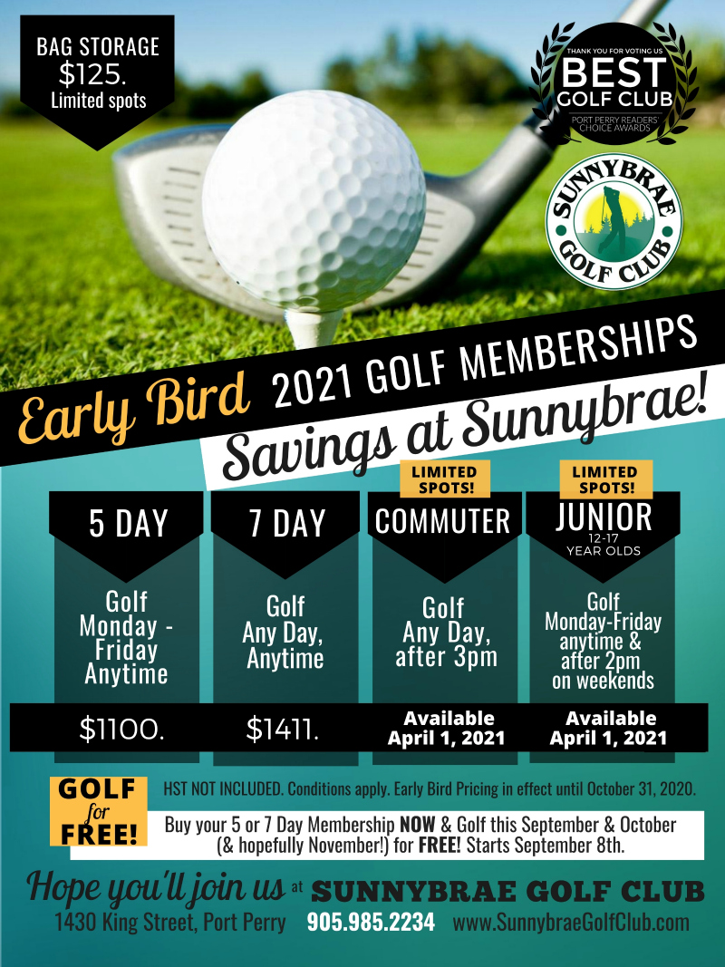 2021 Sunnybrae Early Bird Rates 2021