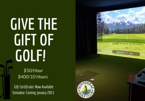 Give A Golf Simulator Gift Certificate