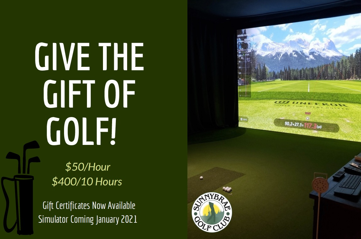 Give a golf simulator gift certificate